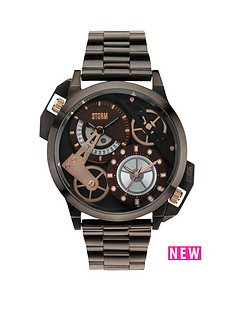 storm-dualon-brown-dial-brown-bracelet-mens-watch