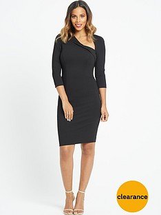 rochelle-humes-curved-neckline-pencil-dress-black