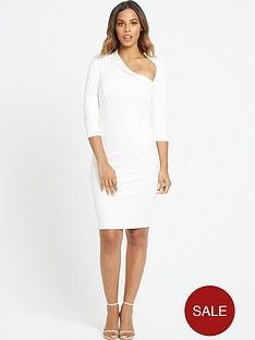 rochelle-humes-curved-neckline-pencil-dress-ivory