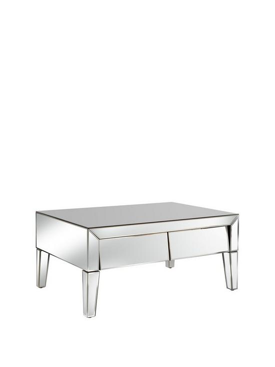 All Mirror Coffee Table.Monte Carlo Mirrored Storage Coffee Table