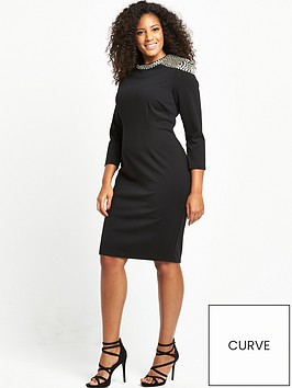 v-by-very-curve-embellished-shoulder-bodycon-dress