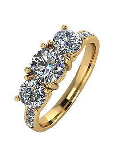 moissanite-9ct-gold-200ctnbsptotal-equivalentnbsptrilogy-ring-with-channel-set-shoulders
