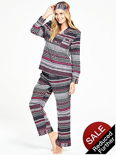 v-by-very-pjs-in-a-bag-with-eye-mask-aztec-print