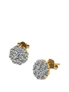 moissanite-moissanite-premier-collection-9ct-gold-175ct-moissanite-daisy-cluster-earrings