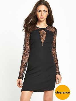 vila-lace-sleeve-dress
