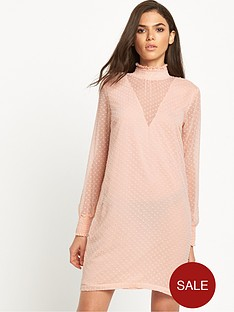 vila-sheared-high-neck-dress