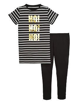 v-by-very-girls-ho-ho-ho-foil-t-shirt-and-leggings-set