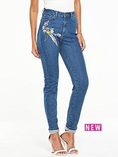 v-by-very-bird-embroidered-slim-leg-jean