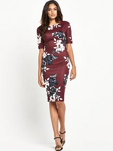 ax-paris-half-sleeve-floral-bodycon