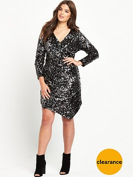 v-by-very-curve-sequin-dress-silver