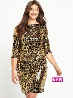 so-fabulous-animal-print-sequin-shift-dress