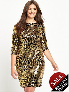 so-fabulous-animal-print-sequin-shift-dress