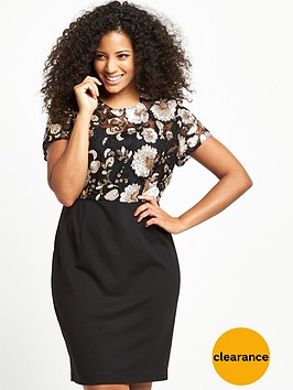v-by-very-curve-floral-sequin-ponti-skirt-dress