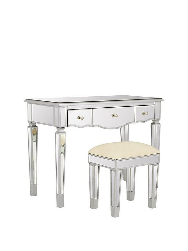 Mirage Dressing Table and Stool Set