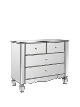 Ideal Home Mirage Mirrored 2 + 2 Drawer Chest