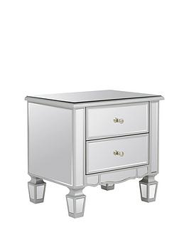 ideal-home-mirage-2-drawer-mirrored-bedside-chest