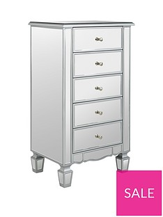 Ideal Home Mirage Mirrored 5 Drawer Chest