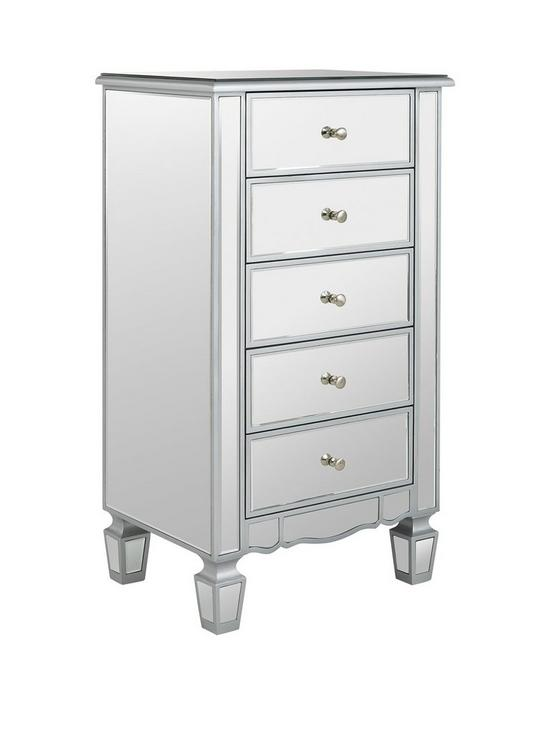Ideal Home Mirage Mirrored 5 Drawer Chest | Very.co.uk