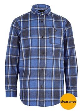 river-island-boys-blue-brushed-check-shirt