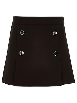 river-island-girls-black-pleated-military-skirt