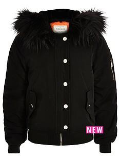 river-island-girls-black-hooded-bomber-jacket