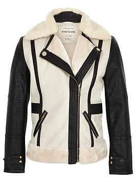 river-island-girls-contrast-borg-biker-jacket
