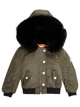 river-island-mini-girls-khaki-hooded-bomber-jacket