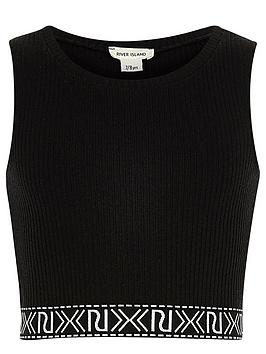 river-island-girls-black-branded-crop-top