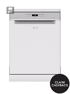 Whirlpool Supreme Clean WFO3P33DL 14 Place Dishwasher - WhiteWith 5-year FREE Extended Warranty