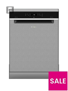 Whirlpool Supreme Clean WFO3P33DLX 14-Place Dishwasher - Stainless Steel Best Price, Cheapest Prices