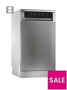 Whirlpool ADP301IX 10-Place Slimline Dishwasher - Stainless Steel