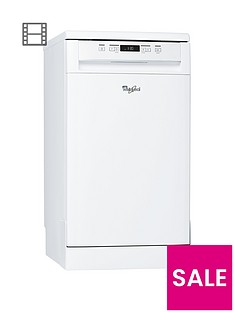 Whirlpool ADP301WH 10-Place Slimline Dishwasher - White
