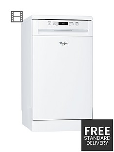 Whirlpool ADP301WH 10-Place Slimline Dishwasher - White Best Price, Cheapest Prices