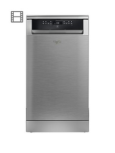 Whirlpool ADP502IX 10-Place Slimline Dishwasher - Stainless Steel