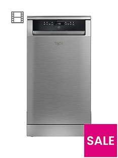 Whirlpool ADP502IX 10 Place Slimline Dishwasher - Stainless Steel