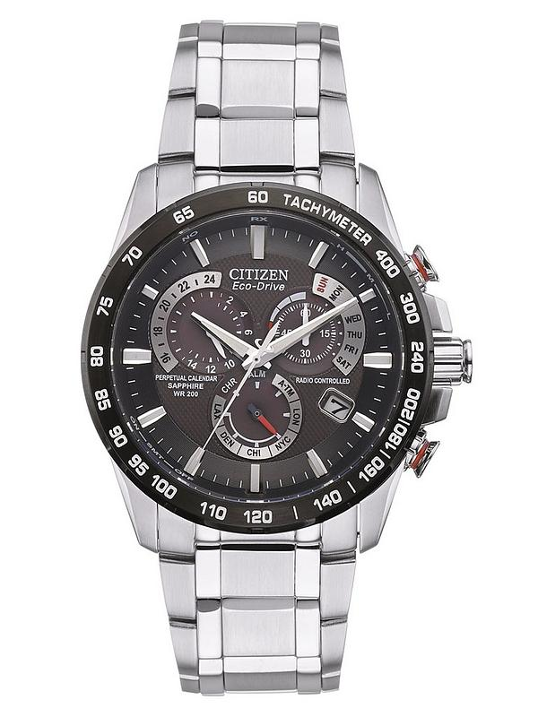 bd1c8efd6 Citizen Eco-Drive Perpetual Chrono A.T. Radio-Controlled Bracelet Mens Watch