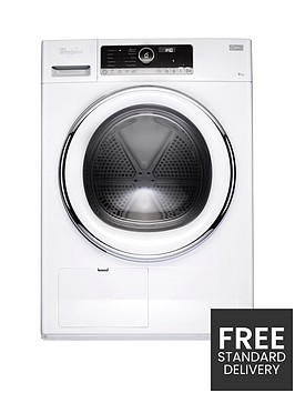 whirlpool-supreme-care-hscx90423-9kgnbspload-heat-pump-tumble-dryer-white