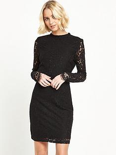 vila-layered-lace-bodycon-dress