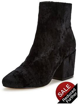 office-ant-block-heel-velvet-ankle-boot