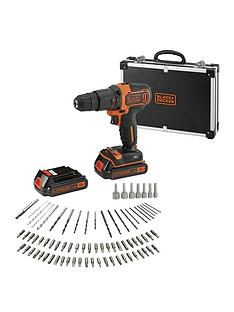 black-decker-bdchd18bafc-18-volt-hammer-drill-2x-batteries-flight-case-andnbsp80-accessories