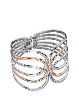 fiorelli-rose-and-silver-tone-cut-out-bangle