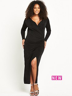 lost-ink-curve-wrap-dress-in-slinky