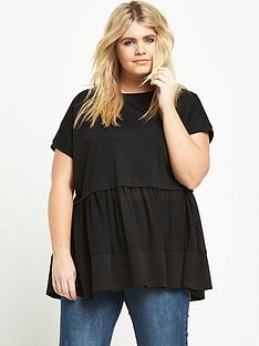 lost-ink-curve-lost-ink-double-layer-top-with-chiffon-hem