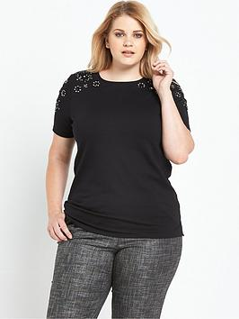 lost-ink-curve-t-shirt-with-embellishment