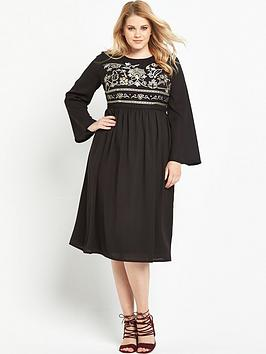 lost-ink-curve-embroidered-top-dress