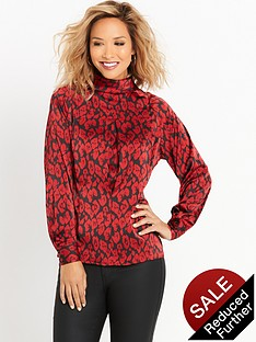 myleene-klass-button-back-animal-print-blouse-leopard