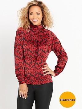 myleene-klass-button-back-animal-print-blouse-leopard