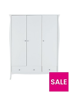 Baroque 3 Door, 2 Drawer Wardrobe