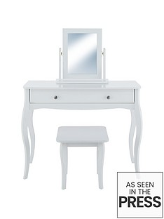 baroque-dressing-table-stool-and-mirror-set