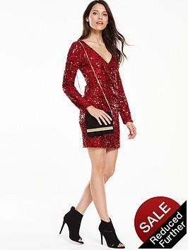 v-by-very-sequin-wrap-bodycon-dress